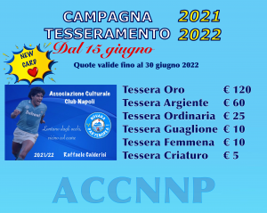 CAMPAGNA TESSERAMENTO 2021/2022